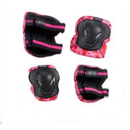 Комплект защиты - розовый (размер XS, S, M)