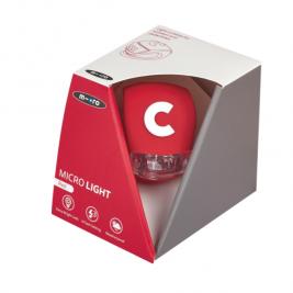 Фонарик Micro Deluxe красный (box)