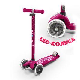 Maxi Micro DELUXE Pink LED колеса