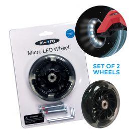Светящиеся LED колеса для MAXI Micro 2шт. (черные)