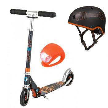 Набор Micro Speed+ Black со шлемом и фонарикм